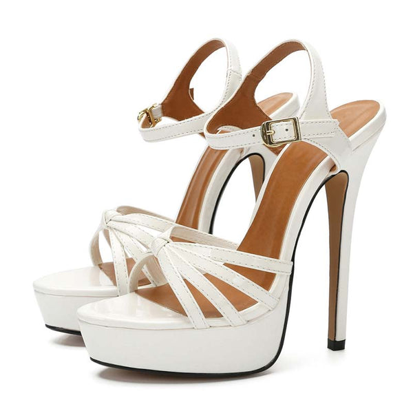 Open Toe Platform Stilettos