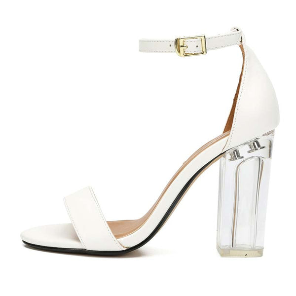 Open Toe Chunky High Heel Sandals