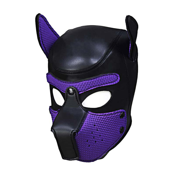 Leather Puppy Hood with Bendable Ears