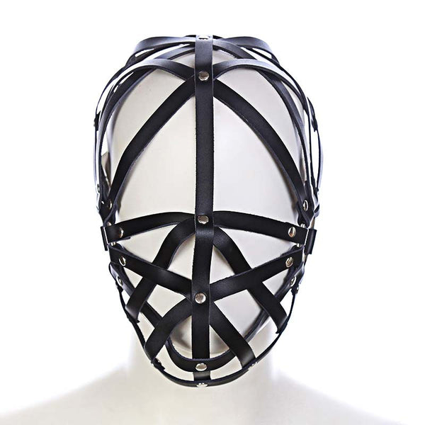 PU Leather Strappy Hood
