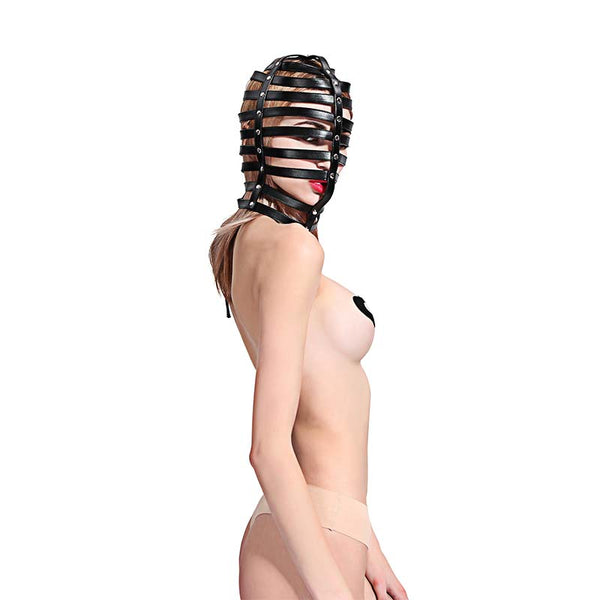 PU Leather Harness Strappy Hood