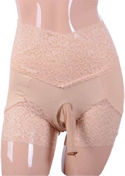 High Rise Lace Trunks with Sheath Open