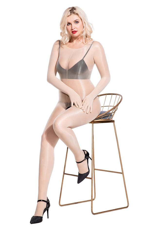 Unisex Crotchless Bodystockings with Five Fingers