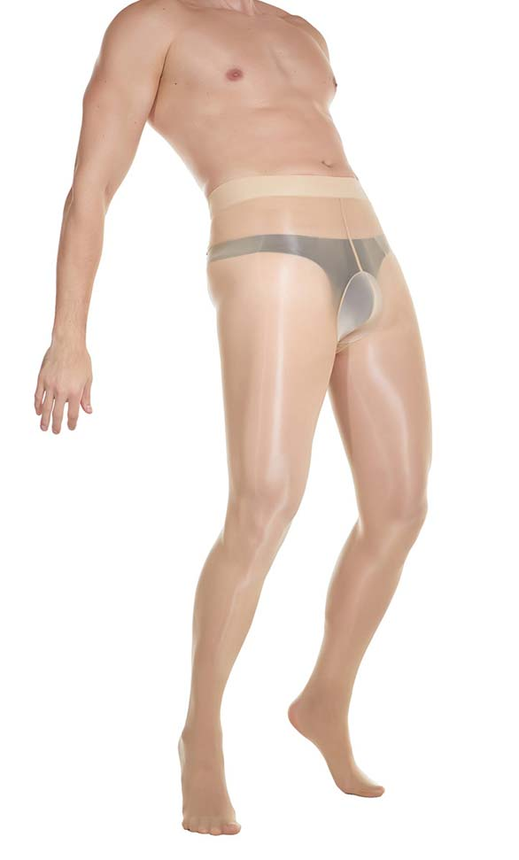 Glossy STW Tights with U Pouch