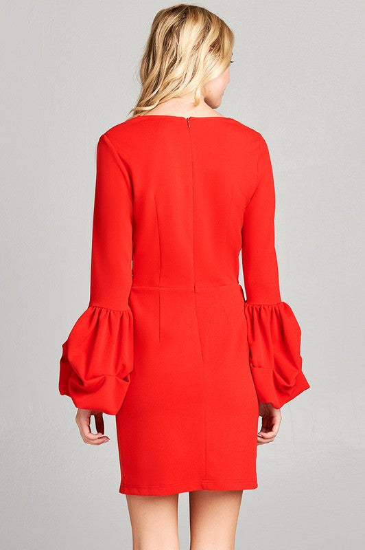 Emmaline Bodycon Cocktail Dress in Red