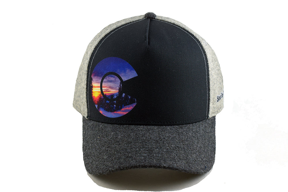 64dd9efe3c97c ... new style exclusive sous le lit colorado rocky mountain ski trucker hat  in grey heritage flannel