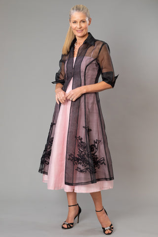 Pure Silk Organza Coat and Tea Length Dress for the Mother of the Bride / Groom