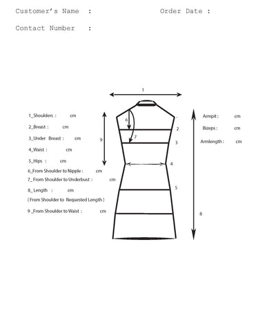 Measurement Chart - Plus Size Made to Measure