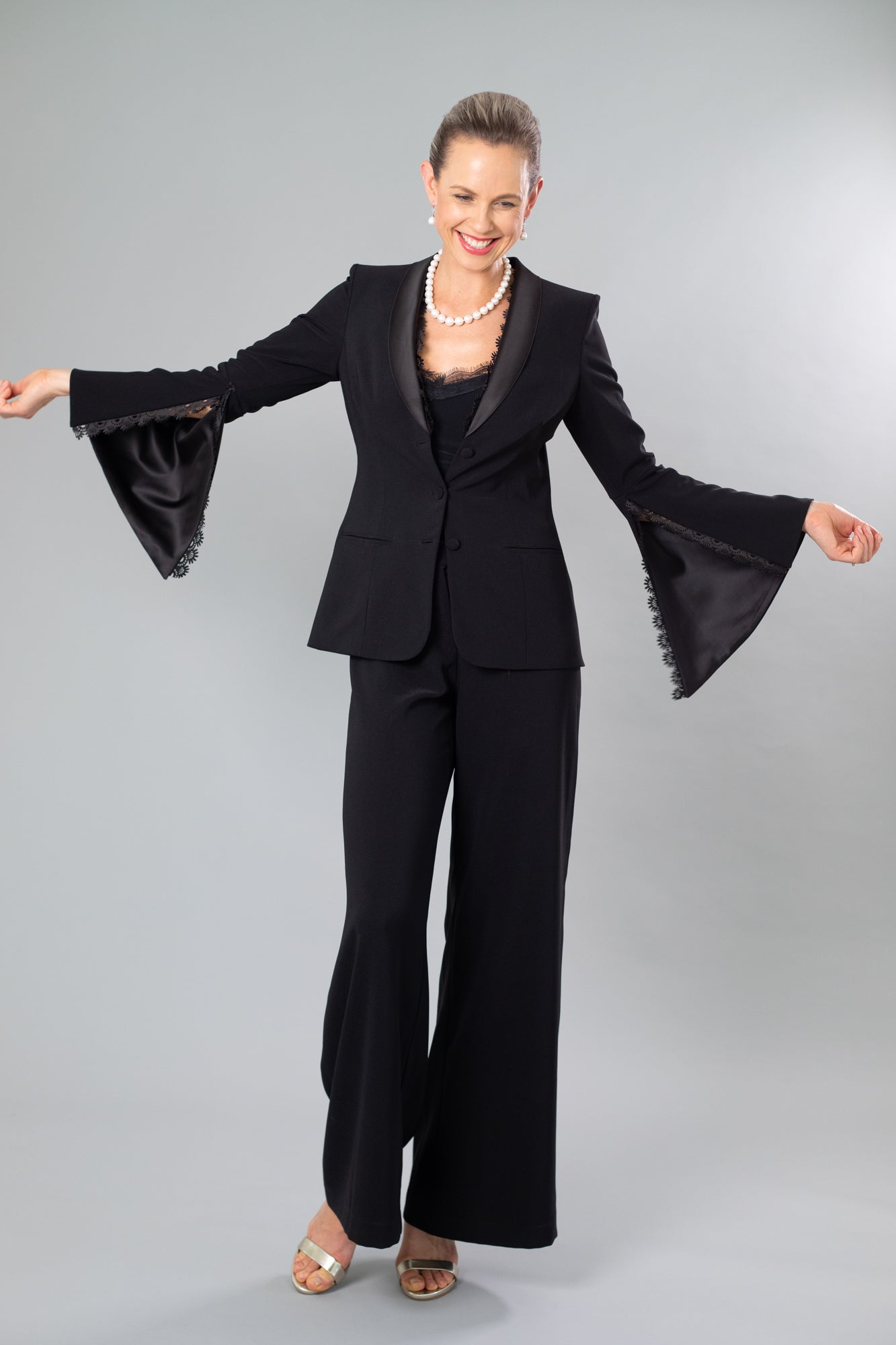 Alma - 3 Piece Pant Suit - Black