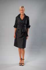 Cocktail Wrap Dress - Black