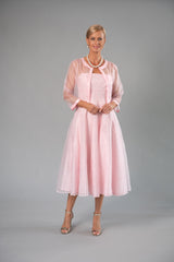 Cocktail Organza Jacket - Soft Pink