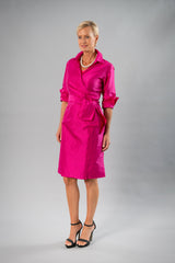 Cocktail Wrap Dress - Fuchsia Pink