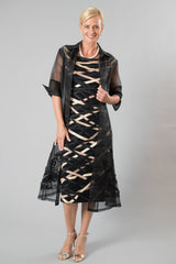 Organza Coat - Black