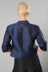 Silk Jacket - Midnight Blue