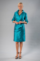 Cocktail Wrap Dress - Teal