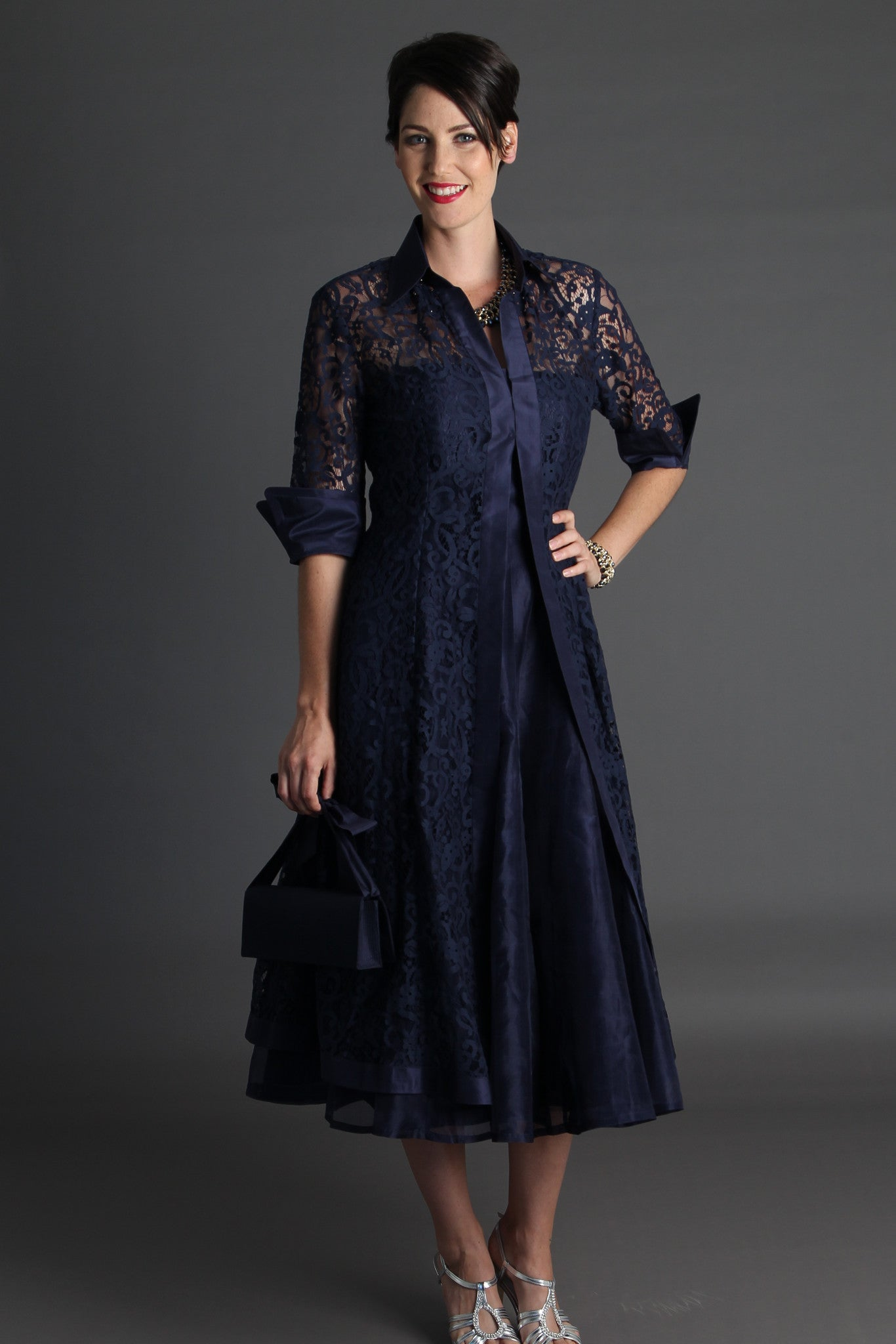 Lace Coat - Midnight Blue