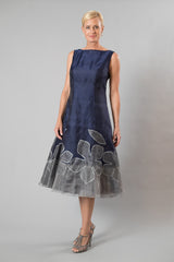 Larissa Dress - Midnight Blue + Silver