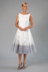 Larissa Dress - Ivory and Silver for the Understated Bride