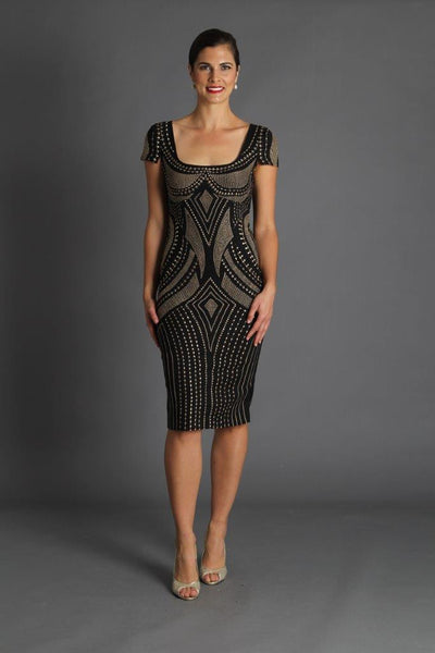 Opulence Dress - Black and Gold