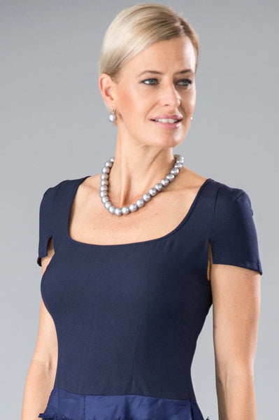 Classic Pearl Necklace - Silver