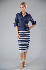 Zambi Skirt - Midnight Blue + Silver