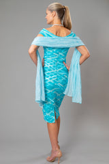Soft Silk Shawl - Aquamarine