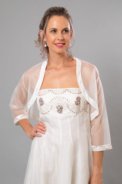 Arabesque Beaded Bolero - For the Understated Bride