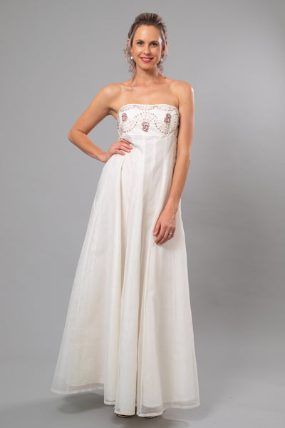 Arabesque Beaded Wedding Gown - For the Understated Bride