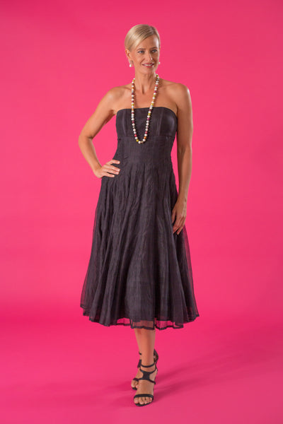 Tea Length Dress - Black