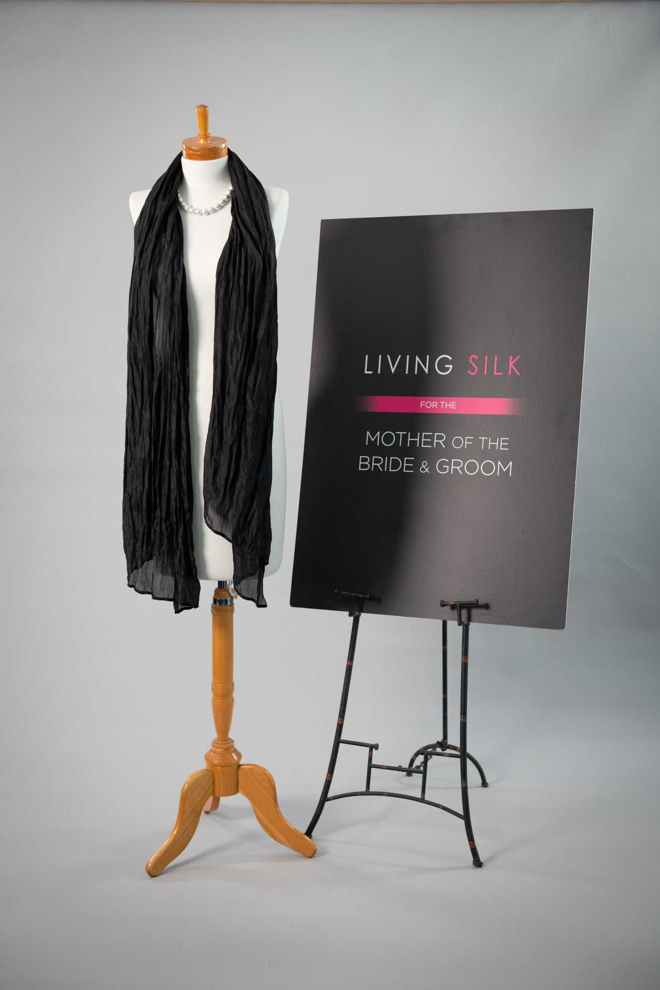 Soft Silk Shawl - Black