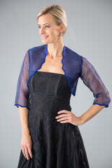 Scalloped Bolero - Cobalt Blue