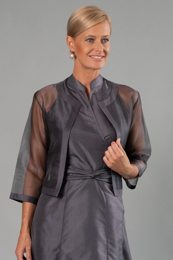 Cocktail Organza Jacket - Gunmetal