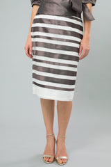 Nickel Pure Silk Zambi Skirt for the Mother of the Bride / Groom from Living Silk
