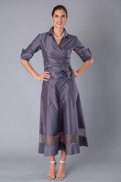 Cocktail Skirt  - Gunmetal