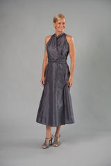 Wrap Dress - Gunmetal