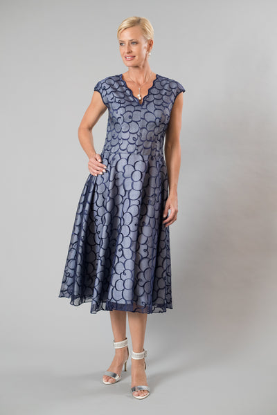 Innocence Dress - Midnight Blue & Silver