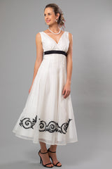 Lace Applique Tea Length Wedding Dress - For the Understated Bride