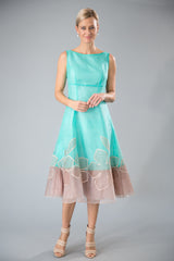 Larissa Dress - Turquoise + Gold