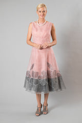 Larissa Dress - Pink + Silver