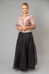 Pansy Skirt Gown Length - Black