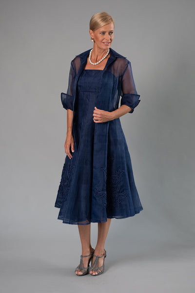Organza Coat - Midnight Blue