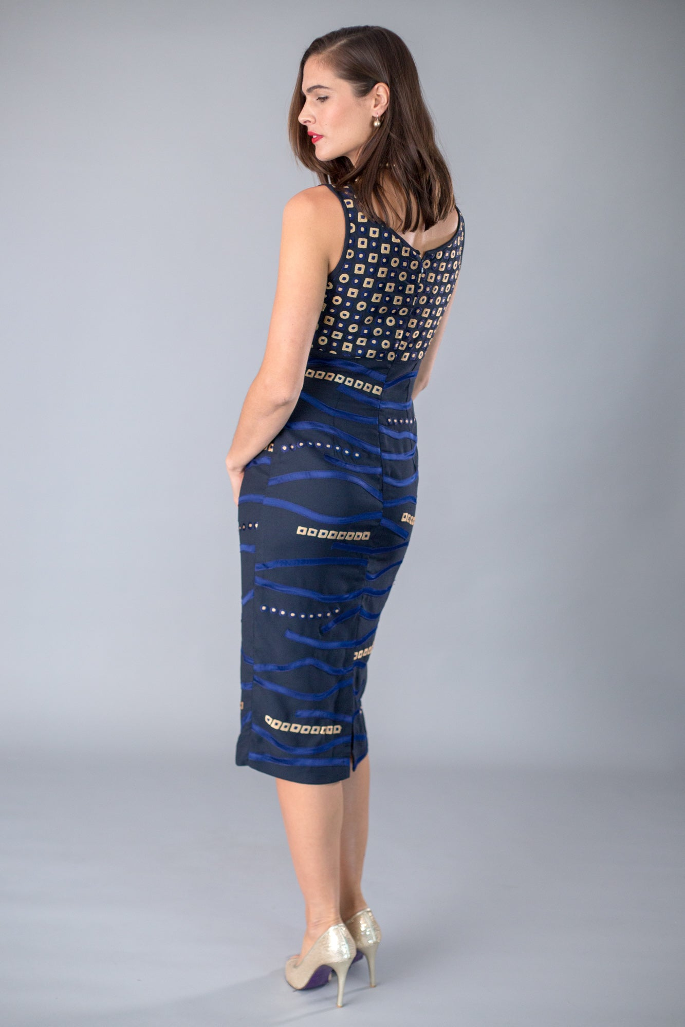 Mosaic Dress - Midnight + Gold