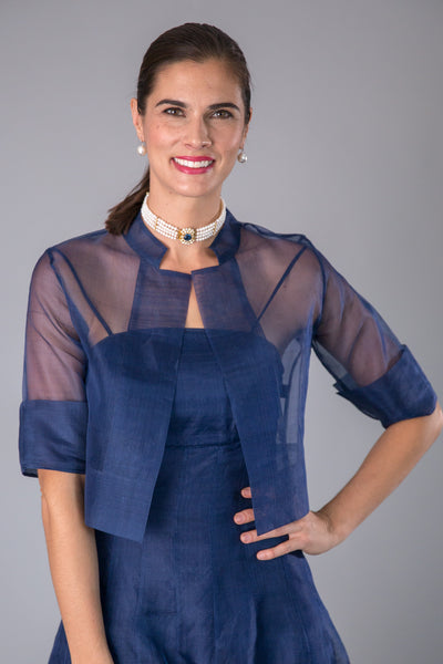 Organza Jacket - Midnight Blue