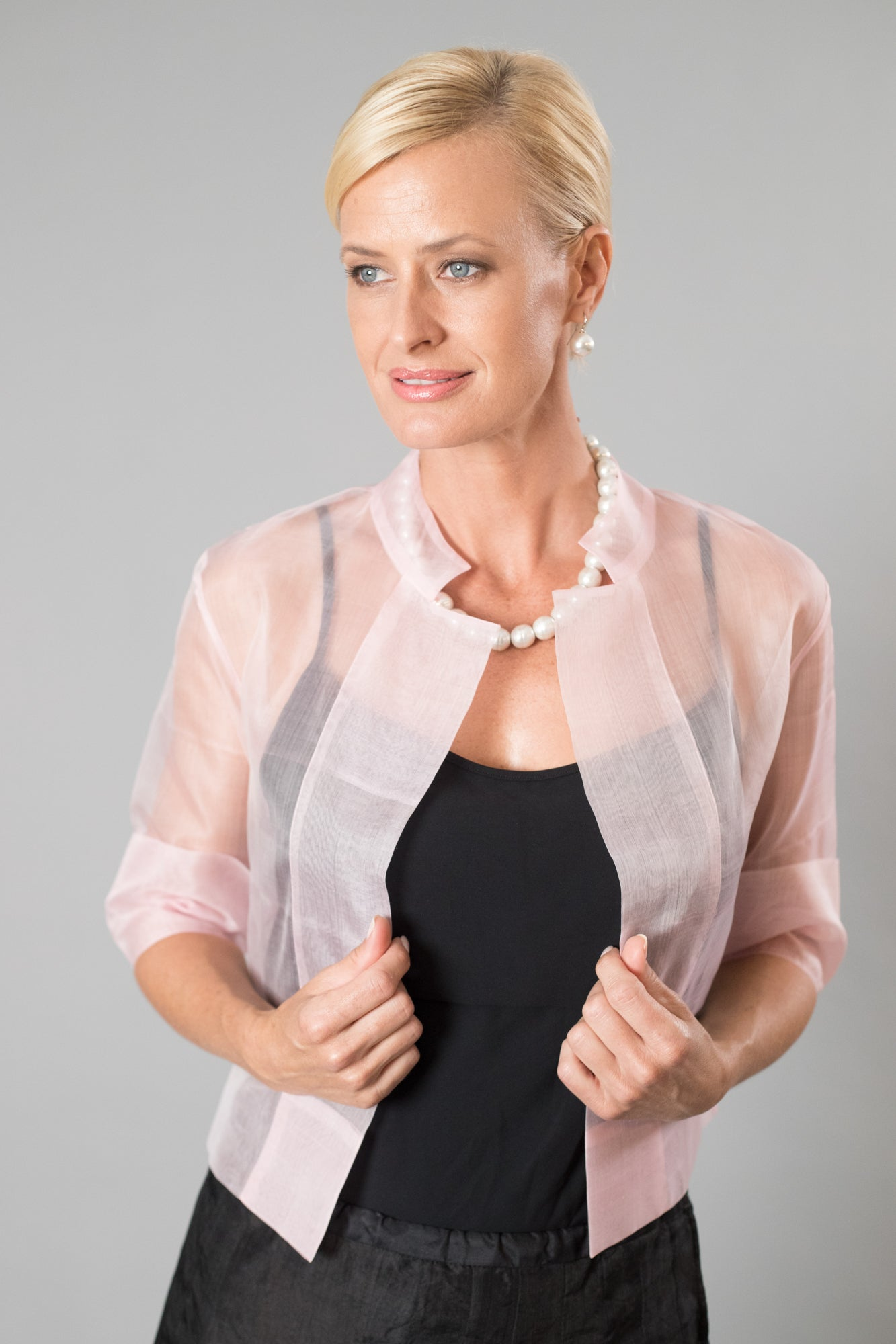 Organza Jacket - Soft Pink