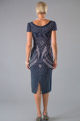 Opulence Dress- Midnight and Silver