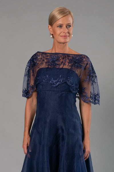 Lace Poncho - Midnight Blue