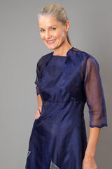 Scalloped Bolero - Midnight Blue