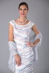 Soft Silk Shawl - Silver