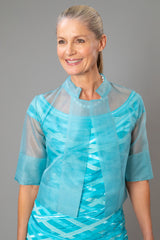 Organza Jacket - Aquamarine