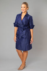 Cocktail Wrap Dress - Midnight Blue